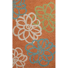 3 X 5 Indoor Outdoor Rugs Jaipur Rugs Blossomed 3 X 5 Indoor Outdoor Rug Orange