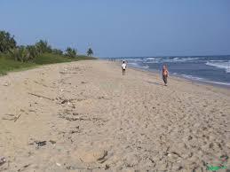 front view beach land for sale at prampram land property