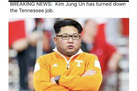 Tennessee Football Memes - lane kiffin posts kim jong un meme about tennessee job bleacher