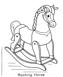 animal coloring pages for children toy animal coloring pages toy rocking horse coloring page and