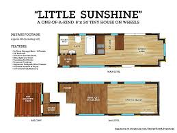 little sunshine u201d 24 foot tiny house on wheels king bed loft