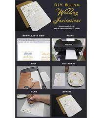 inexpensive wedding invitations diy bling wedding invitations my online wedding help budget