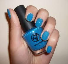 nail polish w7 neon blue w7 nagellak pinterest dupes