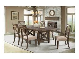 Seven Piece Patio Dining Set - elements international franklin rustic seven piece dining set