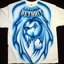 Detroit Lions Home Decor by Airbrushed Detroit Lions T Shirt Hand Painted Airbrush