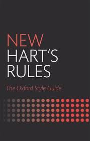 Oxford Press Desk Copy New Hart U0027s Rules The Oxford Style Guide 2nd Edition Oxford