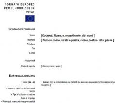 curriculum vitae pdf formato unico esempio curriculum vitae compilato curriculum europeo
