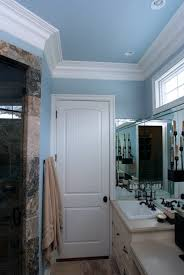 Bathroom Crown Molding Ideas Colors Sante Fe 8 Ft Painted Interior Bathroom Door With A Built Up Crown