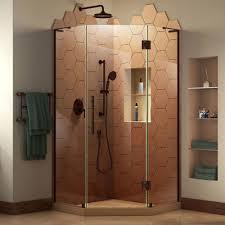 38 Neo Angle Shower Door Dreamline Prism Plus 38 In D X 38 In W X 72 In H Frameless Neo