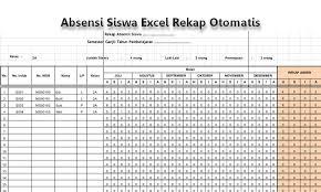 format absensi ujian contoh format absensi siswa berbasis excel rekap otomatis belajar