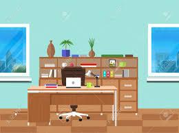 le bureau design intérieur de bureaux moderne avec bureau design dans la conception