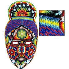 bead masks huichol bead collection huichol mask hmsk115