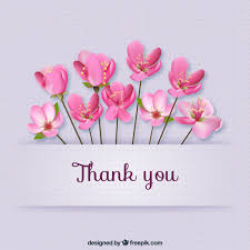 thank you card for thank you card with flowers vector free