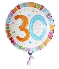 30th birthday balloons delivered 30th birthday balloon for delivery to united kingdom from