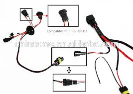 h3 h4 h7 h11 9005 9006 hid conversion kit relay wire harness