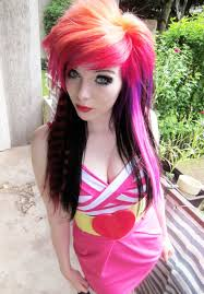 Images Of Girls Hairstyle by Emo Ira Vampira Scene Queen Colorful Hair Purple Blue