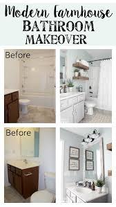 Farmhouse Bathroom Ideas Modern Farmhouse Bathroom Makeover Reveal