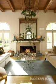 christmas in a spanish mission style home traditional home