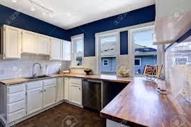 kitchen blue kitchen walls black and grey cabinets white kitchen