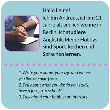 german writing tipps introduce yourself german made easy