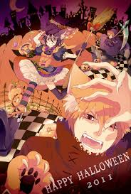 anime happy halloween multi colored dress zerochan anime image board