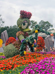 spring means flowers with disney character at walt disney world u0027s