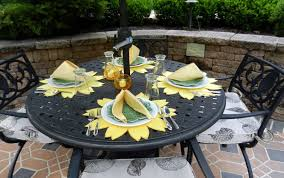 placemats for round table dining room alluring outdoor dining room decoration with yellow