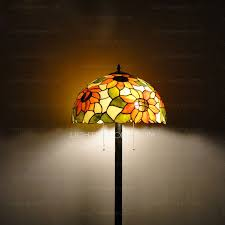 Tiffany Floor Lamp Shades Floor Lamps For Sale Sunflower Pattern Cord Switch