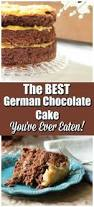 homemade german chocolate cake with cake sweet chocolate water