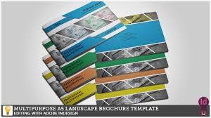 brochure layout indesign template multipurpose a5 landscape brochure template editing with adobe
