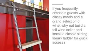 Sliding Bookshelf Ladder 3 Ways To Impress Guests With Rolling Library Ladders
