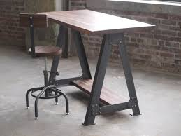 buy a hand made walnut stand up sit down work station desk made