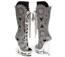 barbie silver boots ebay