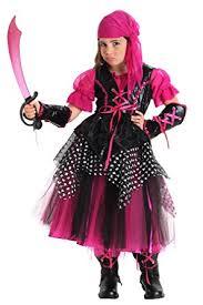 Halloween Pirate Costumes Girls Amazon Big Girls U0027 Pink Caribbean Pirate Costume Toys U0026 Games