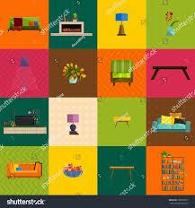 vector illustrationmodern home furniture living room stock vector