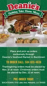 take home menu deanie s seafood restaurant market bucktown