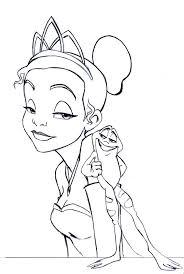 princess tiana coloring pages getcoloringpages
