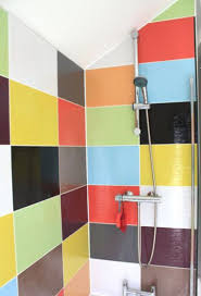 Rainbow Bathroom Accessories by Designing Your Home With The Rainbow Colored Concept Hometone