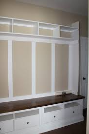 diy mudroom prob good info here ikea modified entry