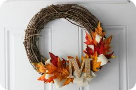fall wreath ideas furniture accessories simple diy fall wreath idea design