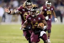 thanksgiving college football nickoe whitley helps mississippi state get bowl eligible nfl com