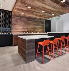 concrete brick wall home bar contemporary with kitchen design