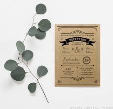 Wedding Reception Only Invitation Wording Printable Black Diy Reception Only Invitation Template