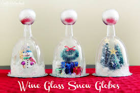 wine glass party favor diy snow globe tutorial wine glasses crafts unleashed