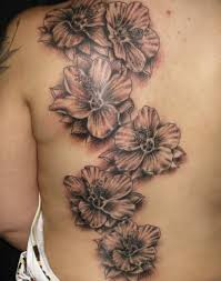 34 best tropical flower tattoos black and grey images on pinterest