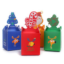 color christmas candy box lovely mini gift packing christmas party