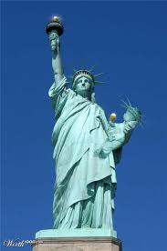 statue with sci statue of liberty