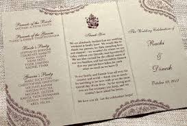 indian wedding programs hindu wedding ceremony program blush paperie