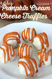 easy dessert idea easy recipe for pumpkin cheese truffles