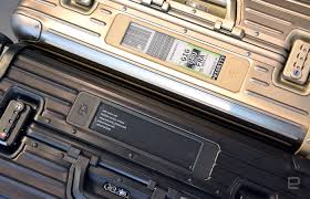 rimowa u0027s electronic luggage tag is the future of traveling